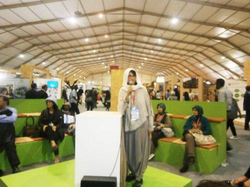 09 Novembre Zineb Benrrahmoune anime un side event à la Cop22 les agricultures durables