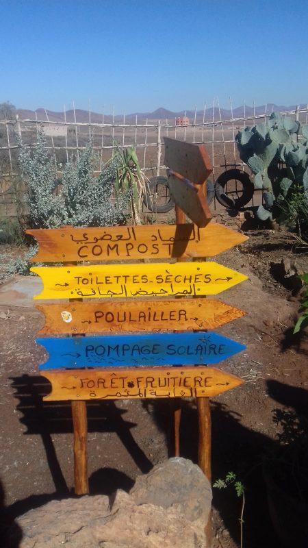 Visitez le CIPA Pierre Rabhi en suivant les flèches au milieu de la nature